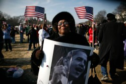 Ms. Jossie Redmond of Mississippi at Obama Inauguration, Jan. 20, 2009.  (Reuters)