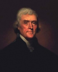 Jefferson, by Rembrandt Peale, 1800
