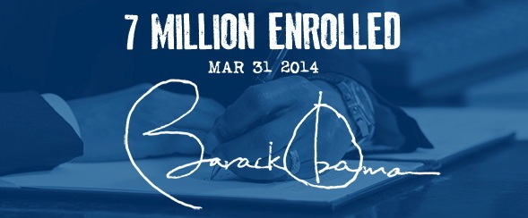 7 million enrolled 3-31-14