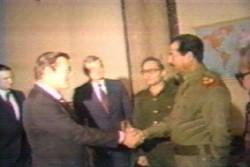 Rumsfeld-Hussein handshake 1983