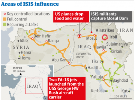 ISIS areas