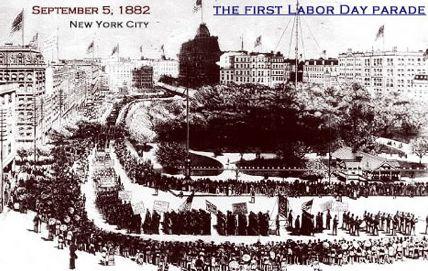1st Labor Day parade NYC 1882